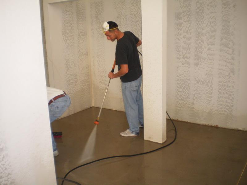 powerwashing floor