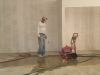 washing the floor, cleaning up dust