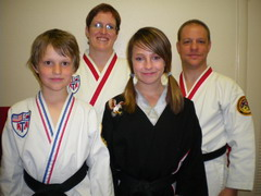 Four Black Belt in one family